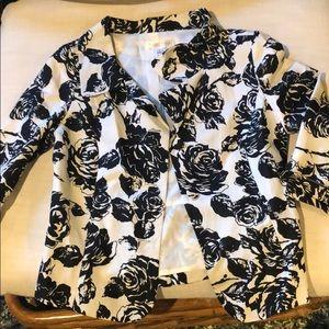 White House/ Black Market floral blazer 8